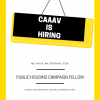 Searching for Public Housing Campaign Fellows! *Deadline Extended!*