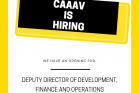 Searching for Deputy Director of Development, Finance and Operations!