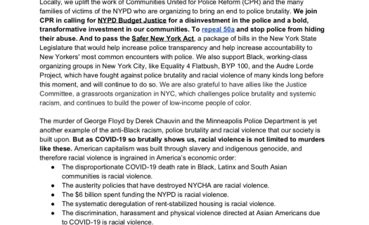 #DefundTheNYPD and Fund Communities!